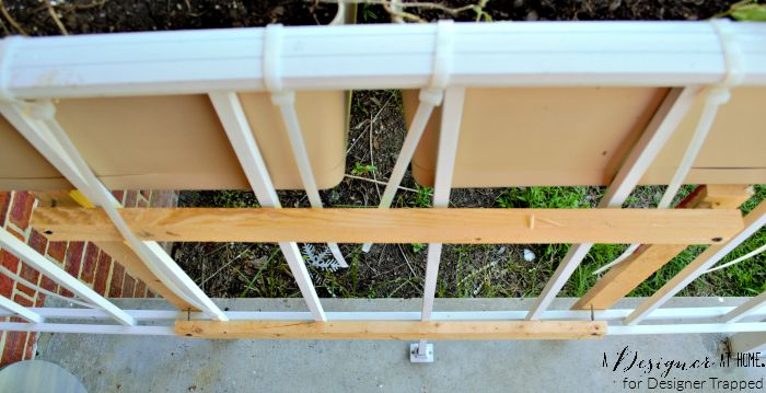 support system for brackets to support window box planters A Designer At Home for Designer Trapped