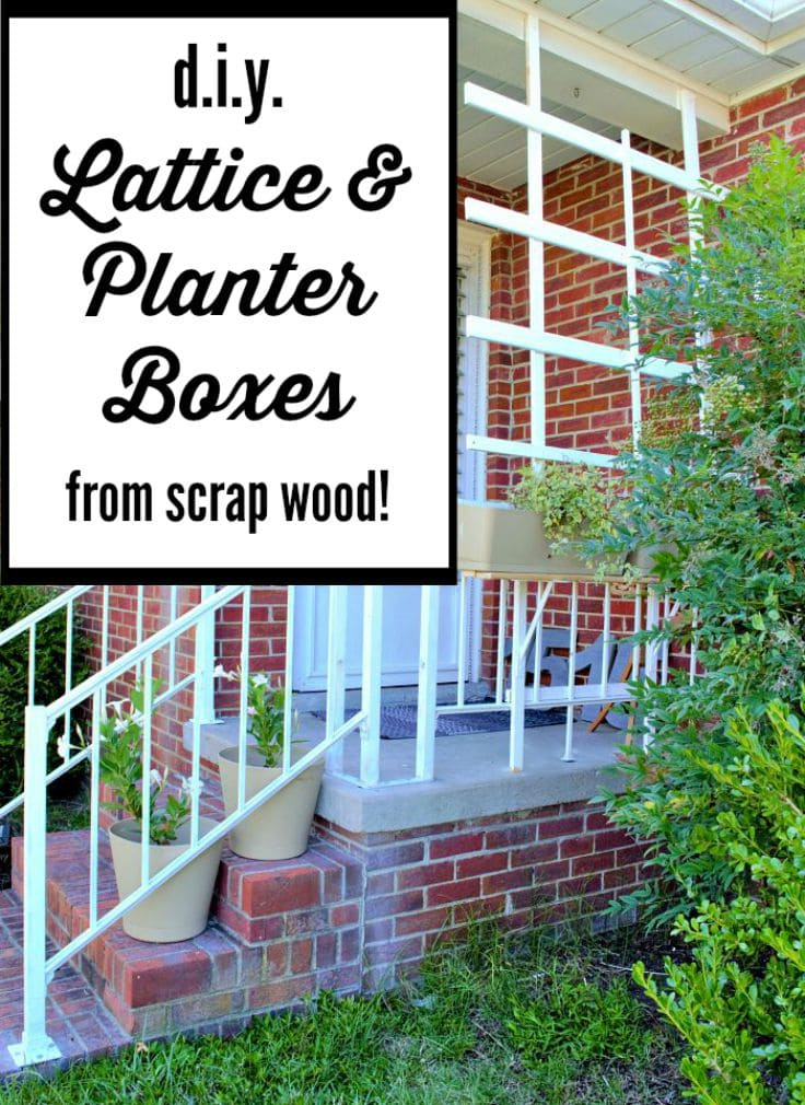 What a great idea! Use scrap wood to build custom porch lattice and planter boxes that attach to an existing railing!