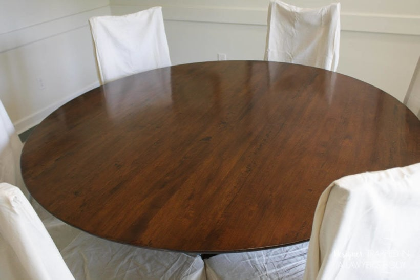 refinished wood table
