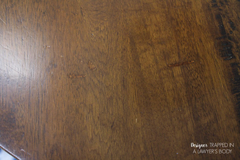 refinished wood table top