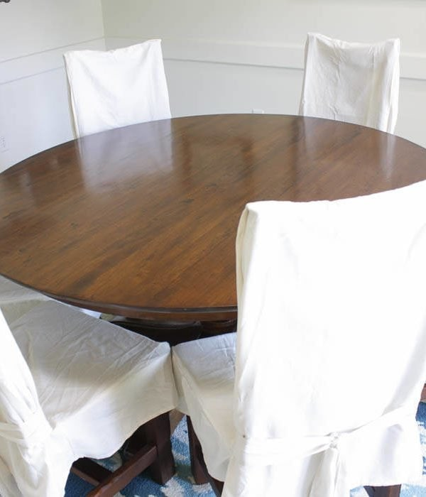 How to Refinish a Table {without sanding or stripping}