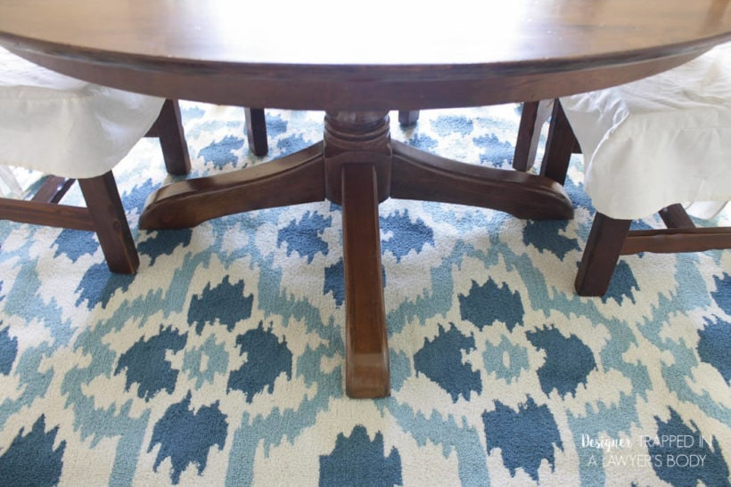 refinished table legs