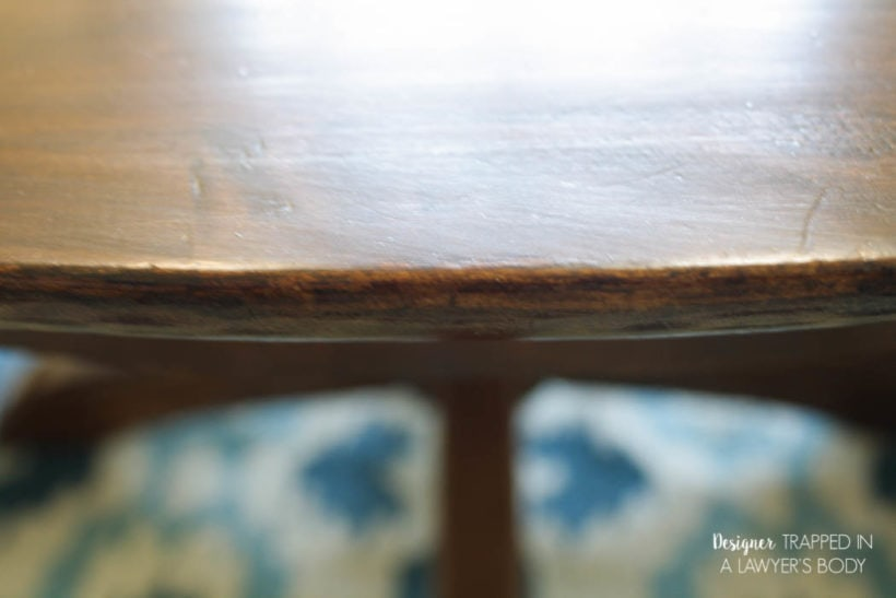 refinished table edge