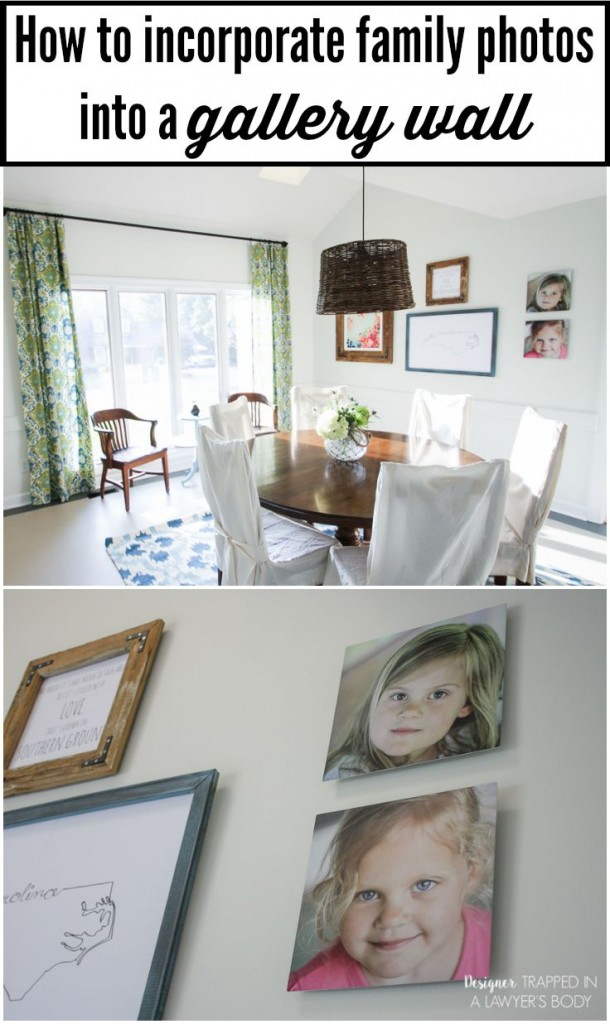 GET YOUR PHOTOS OFF YOUR COMPUTER AND ON YOUR WALL! Create an eclectic gallery wall and have some of you favorite photos printed on metal for an amazing look! Gallery wall tips by Designer Trapped in a Lawyer's Body. #ad #OurHomeOurStory