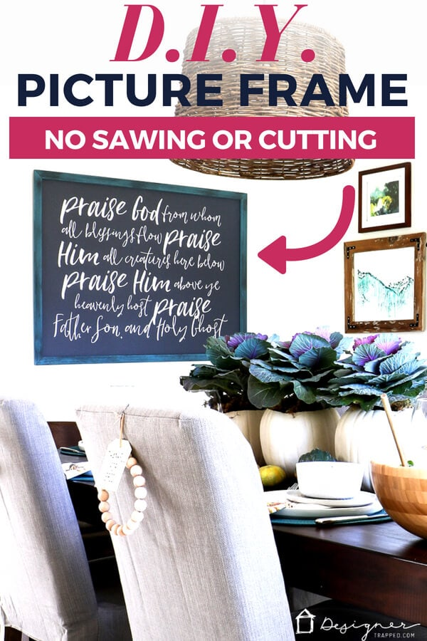 diy picture frame without sawing or cutting
