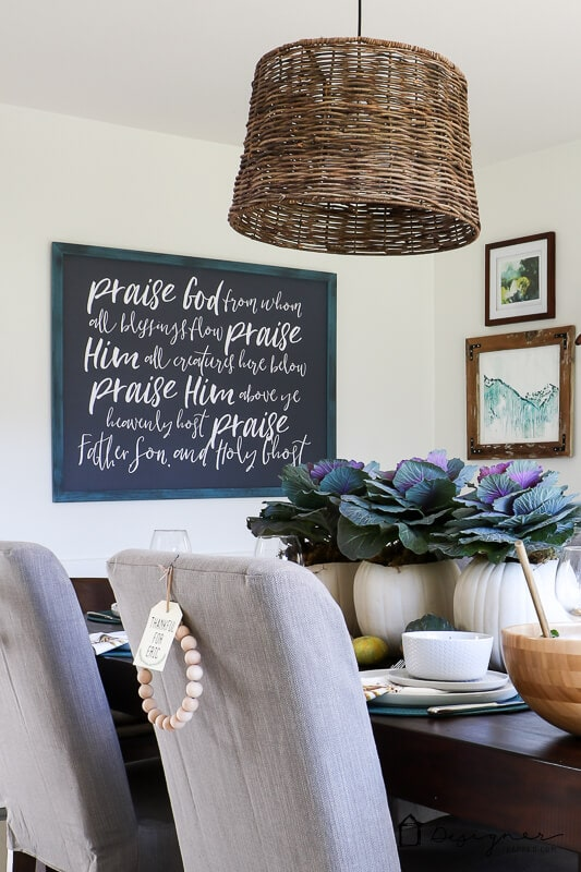 diy picture frame hanging on wall