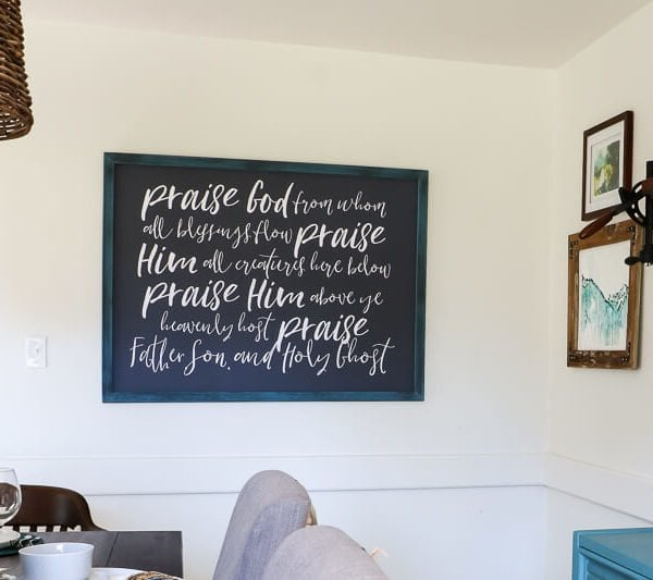 diy frame hanging on wall