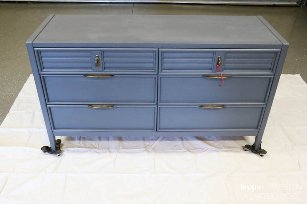 painted dresser before