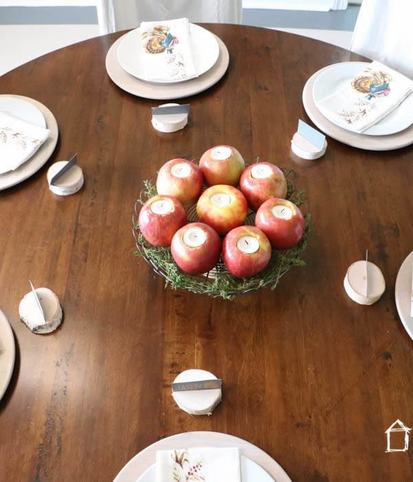 Our Simple Thanksgiving Table Setting