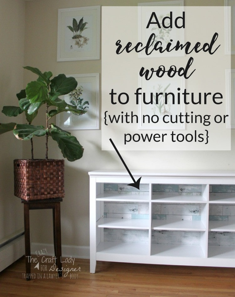 How To Update Inexpensive Furniture With Wallpaper