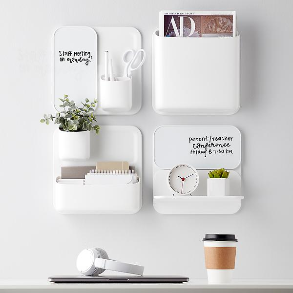 modern white magnetic wall organizer