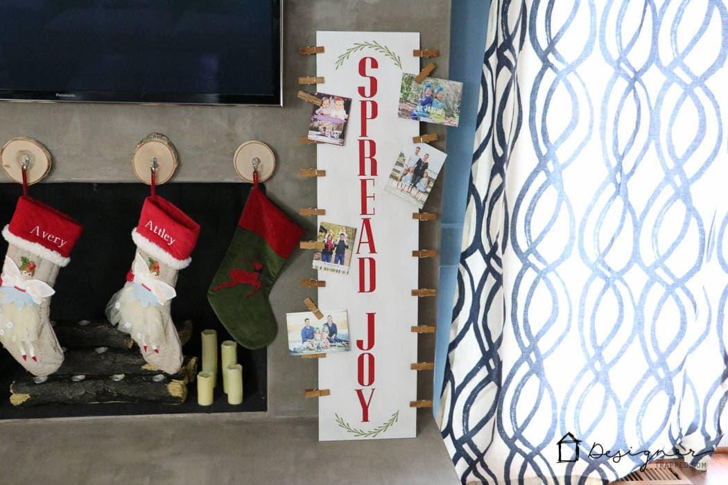 Diy Christmas Card Display Kaleidoscope Living