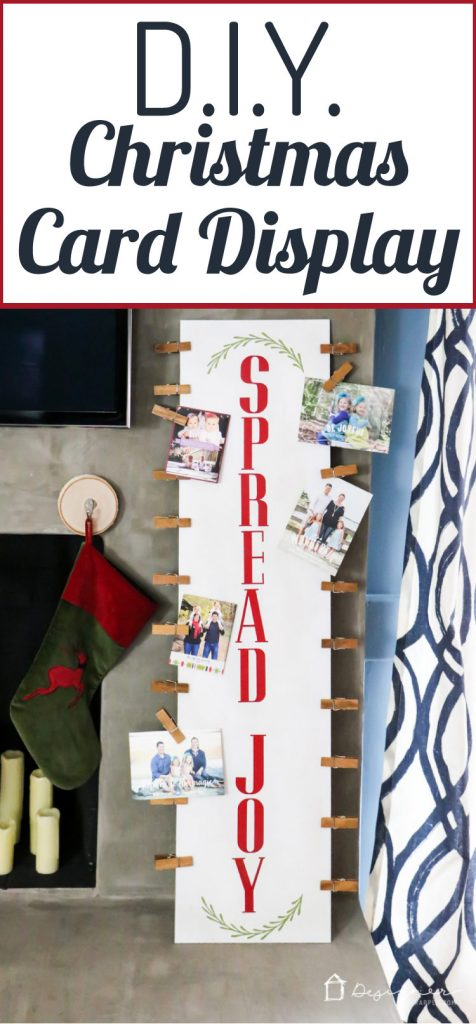 Need somewhere or some way to display all of your holiday cards? This DIY Christmas card display is so cute and easy to make!