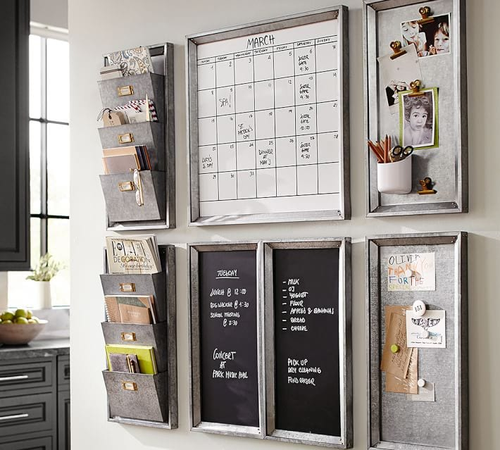 pottery barn galvanized metal command center