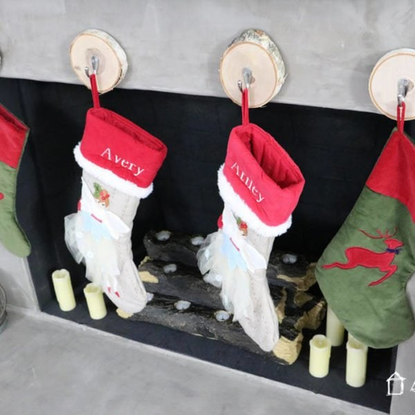 AWESOME! Learn where to hang stockings when you don't have a mantel. Tons of great ideas from Designer Trapped in a Lawyer's Body!