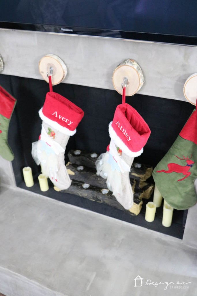 AWESOME! Learn where to hang stockings when you don't have a mantel. Such an easy and creative solution from Designer Trapped in a Lawyer's Body!