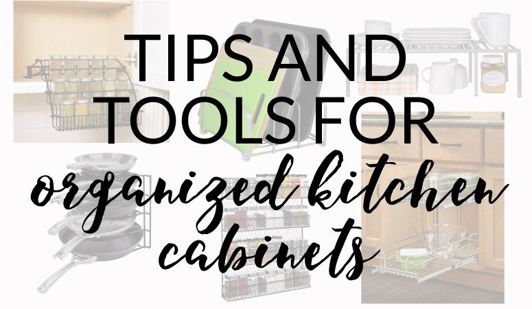 Sick of the clutter in your kitchen cabinets? Learn how to organize your kitchen cabinets with these tools and tips from Designer Trapped in a Lawyer's Body.