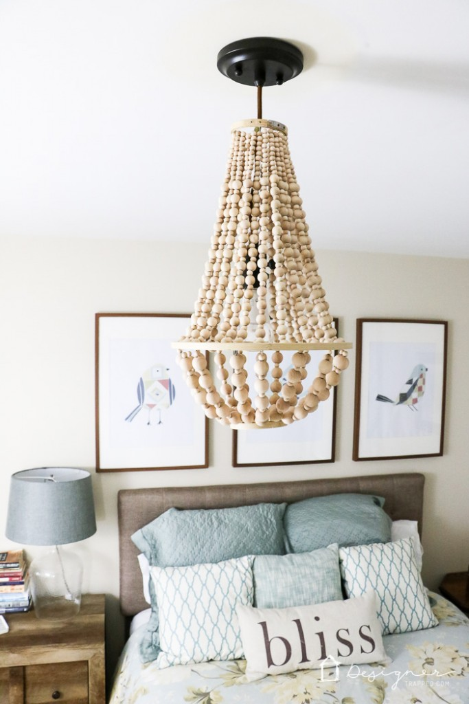 GORGEOUS DIY wood bead chandelier by Designer Trapped in a Lawyer's body for Remodelaholic.com!