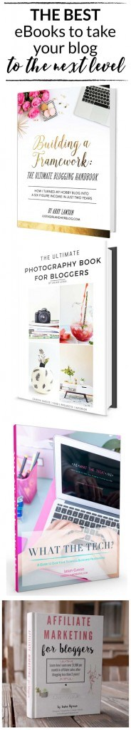 AWESOME list of blogging resources & blogging books to help you take your blog to the next level written by a blogger who was able to leave her 6 figure career job as an attorney to blog full-time after blogging only 2 years! | designertrapped.com