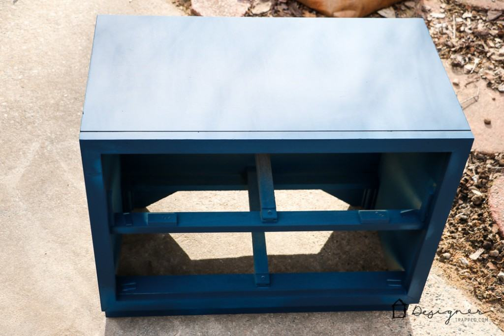 LOVE THIS campaign furniture makeover! These campaign bedside tables were roadside rescues are are gorgeous now!