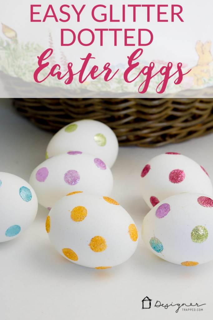 OMG, love this! I never thought of decorating Easter eggs this way. So, so simple. Can't wait to try it with my kids!