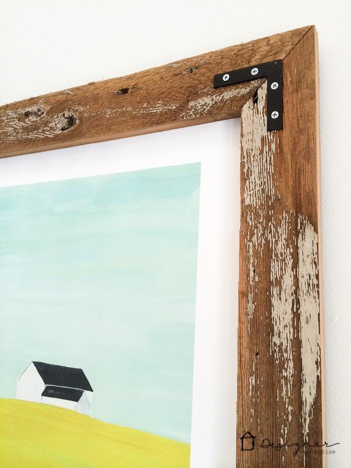 DIY frame close up