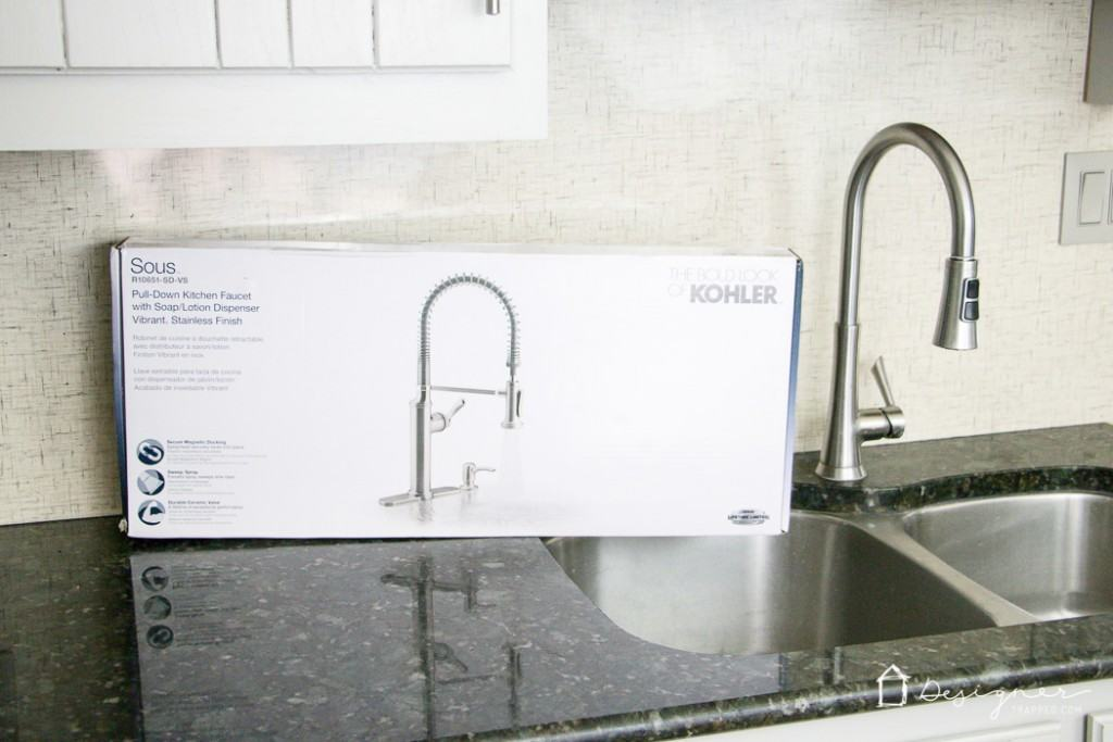 New Kitchen Faucet: Finally! A beautiful faucet that is flexible AND powerful. I think I am in love! #spon #KohlerIdeas
