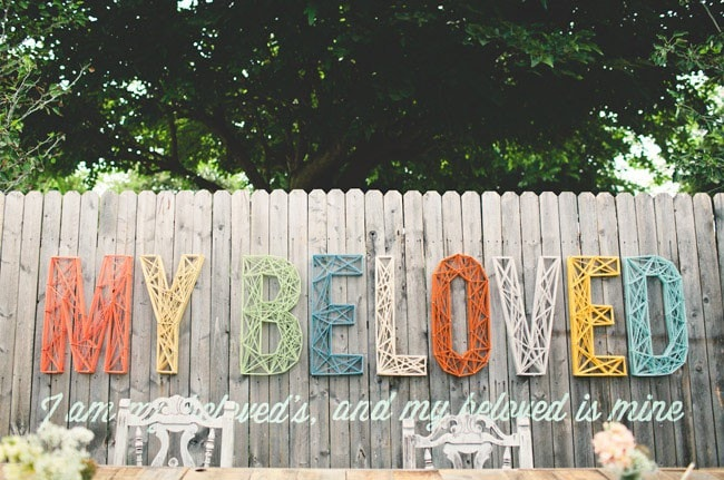 Huge string art on a fence--upping the game on Outdoor DIY projects!