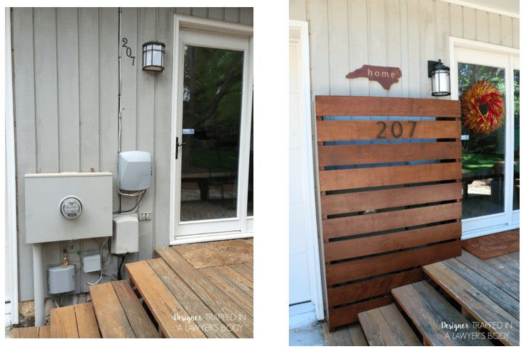 OMG, one of the best DIY outdoor projects I have seen. Finally a pretty way to hide ugly utility boxes!