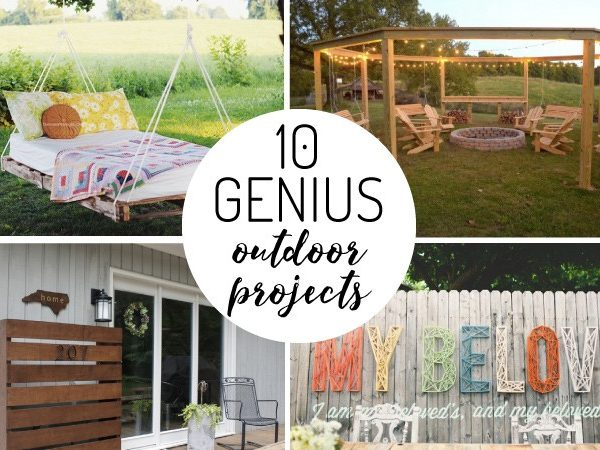 OMG! This is the best list of DIY outdoor projects I have seen! Number 1 and 3 are my favorite.