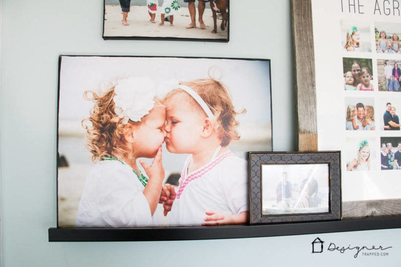DIY photo canvas of little girls