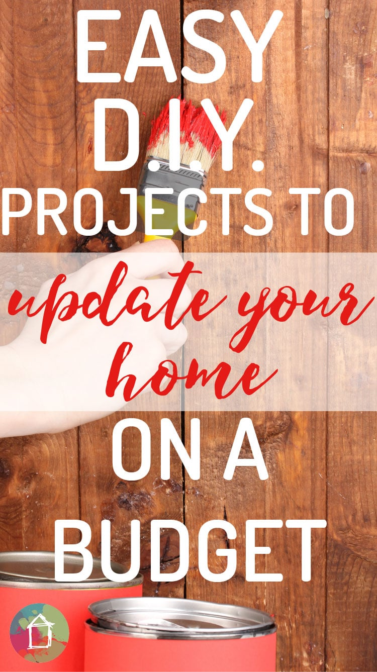 Cosmetic updates can make a HUGE difference in your home. These DIY home projects are genius and so cost effective.