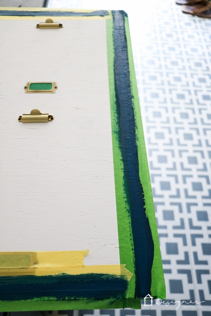 painting plywood with frog tape