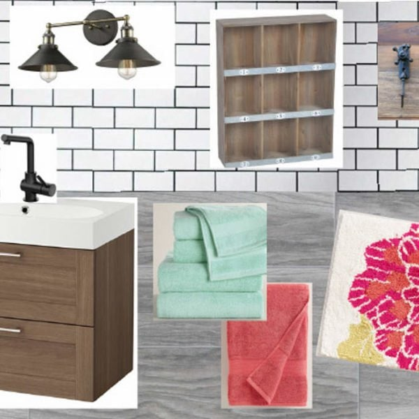 OMG, love the plans for this budget-friendly bathroom remodel. You don't have to spend a fortune to have a beautiful and functional bathroom. Full source list included.