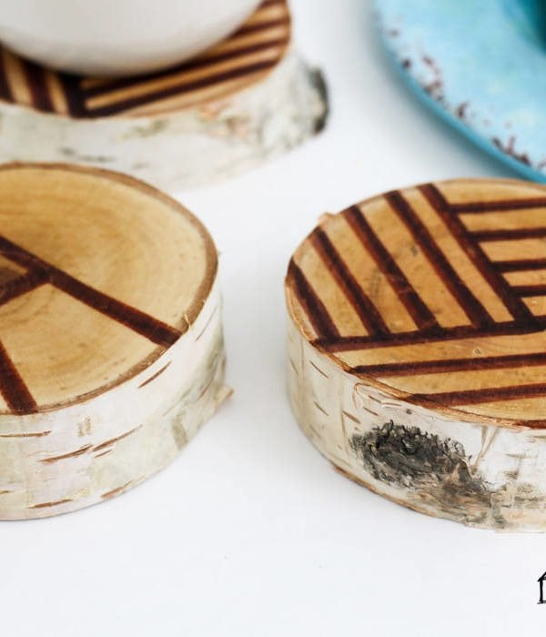DIY Coasters from Wood Slices