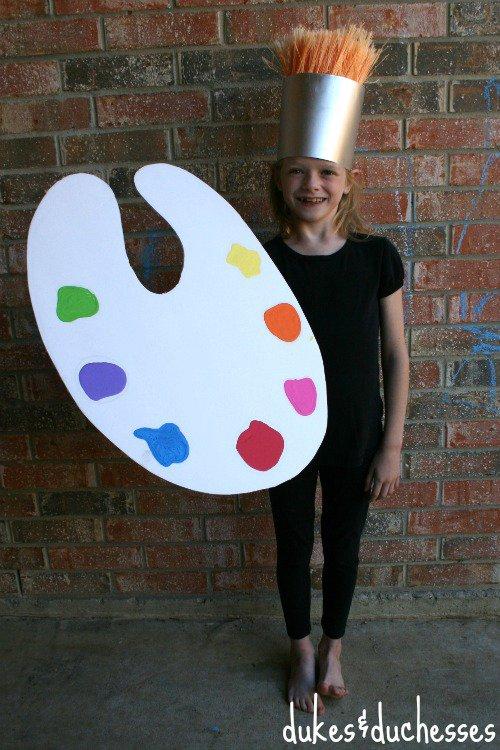 DIY paint brush costume