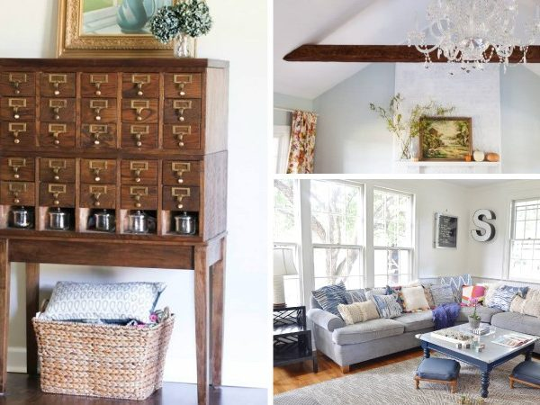 Stuck when it comes to designing your living room or family room? This round-up of DIY decorating ideas will have you feeling inspired in no time!