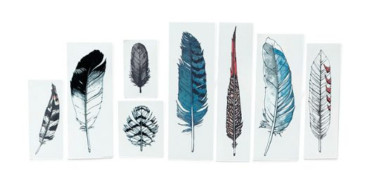 temporary feather tattoos