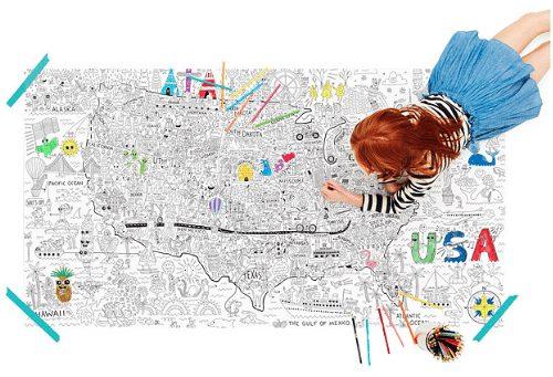 jumbo USA coloring map