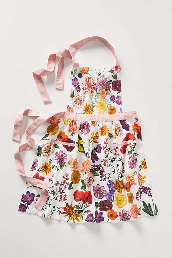 colorful flowered anthropologie apron