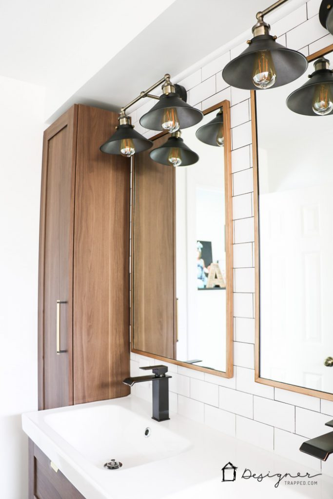 OMG, I can't believe how dramatic this DIY bathroom renovation is!