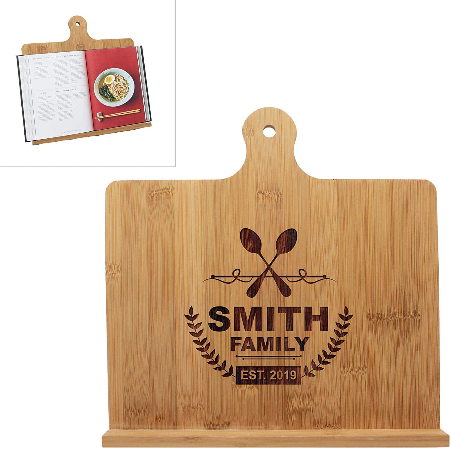 personalized recipe and ipad holder