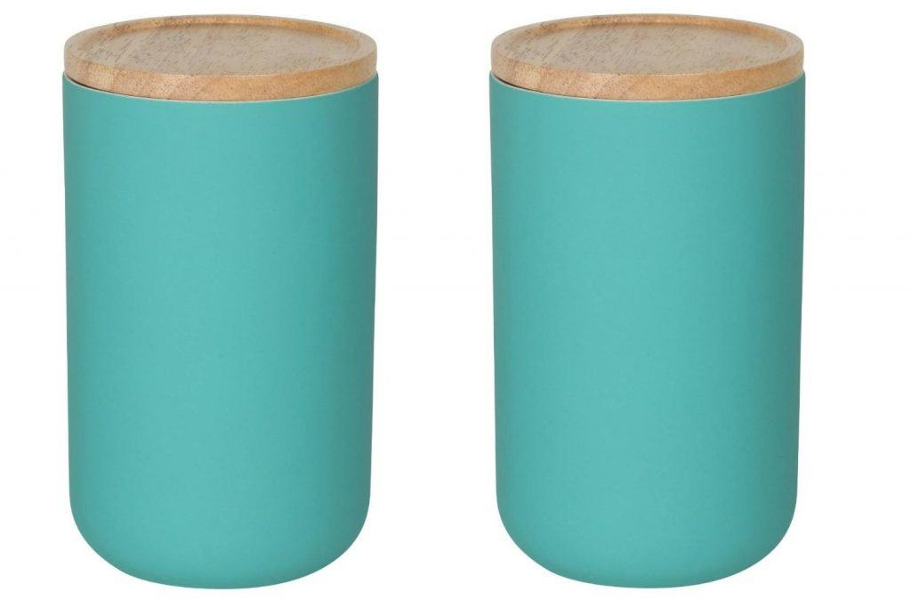modern turquoise food canisters