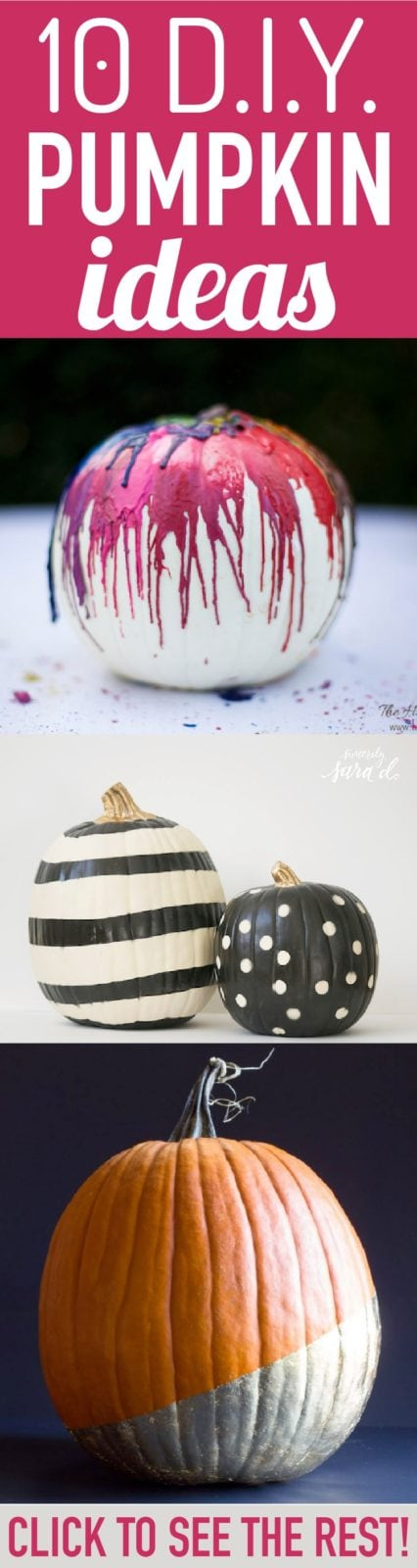Love, love, love all of these cute pumpkin ideas. So great to see pumpkin ideas that don't all involve carving. I love the 3rd and 7th ideas most!