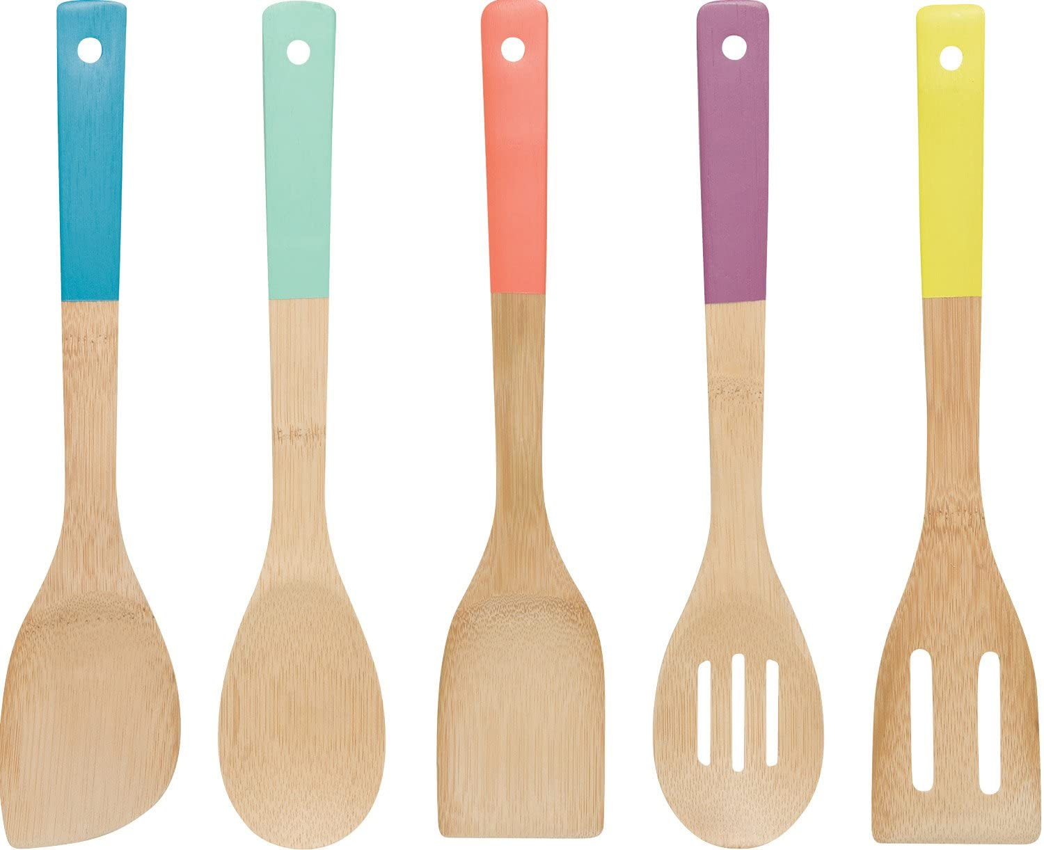 colorful dipped utensils