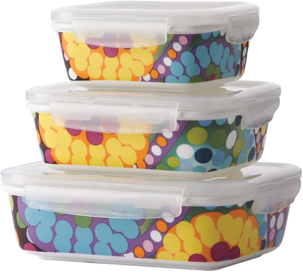 colorful food storage