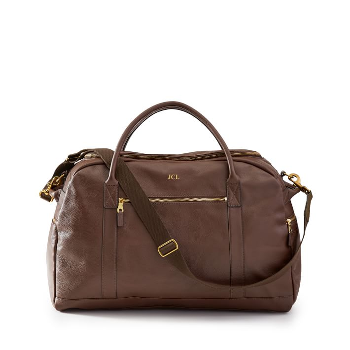 personalized leather bag