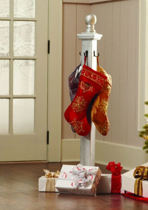 Holiday Stocking Post with The Home Depot DIY Workshop