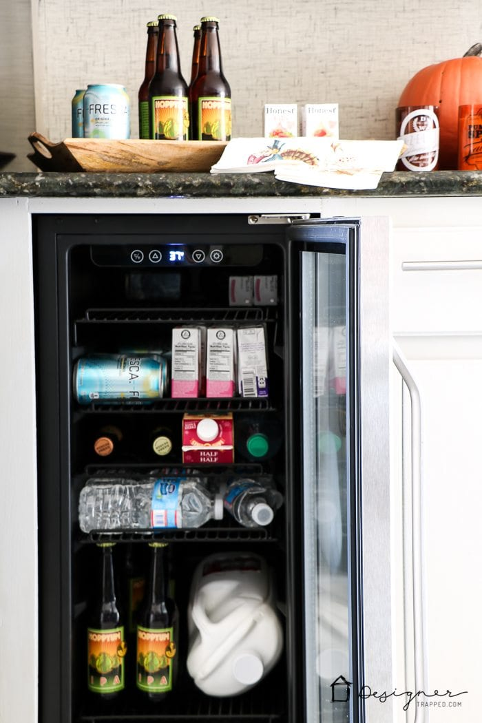 Need more room in your refrigerator? Add a beverage fridge! Affordable and practical.