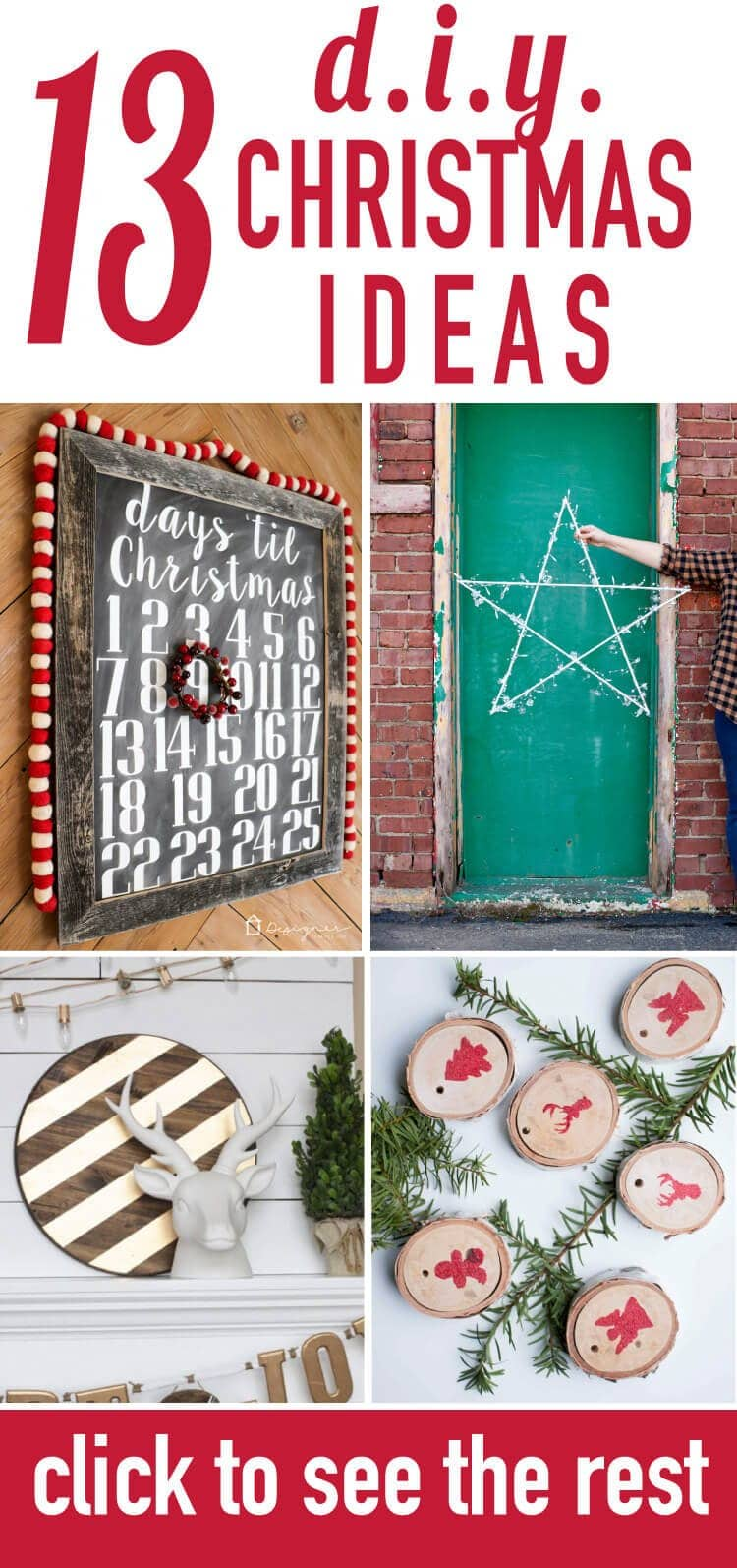 Love these original and creative DIY Christmas decorating ideas! If you need ideas for Christmas decorations and Christmas decor, be sure to check these out--my faves are number 2 and 6!